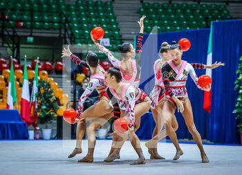 10/10/2020 - Italy group team during the Serie A 2020 round 3° at the PalaBancoDesio, Desio, Italy on October 10, 2020 - Photo Fabrizio Carabelli - GINNASTICA RITMICA - CAMPIONATO NAZIONALE SERIE A - GINNASTICA - ALTRO