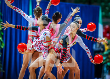 10/10/2020 - Italy group team during the Serie A 2020 round 3° at the PalaBancoDesio, Desio, Italy on October 11, 2020 - Photo Fabrizio Carabelli - GINNASTICA RITMICA - CAMPIONATO NAZIONALE SERIE A - GINNASTICA - ALTRO