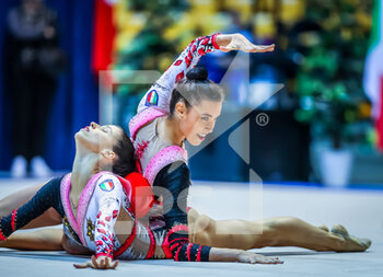 10/10/2020 - Maurelli Alessia of Italy Group and Martina Centofanti of Italy Group during the Serie A 2020 round 3° at the PalaBancoDesio, Desio, Italy on October 11, 2020 - Photo Fabrizio Carabelli - GINNASTICA RITMICA - CAMPIONATO NAZIONALE SERIE A - GINNASTICA - ALTRO
