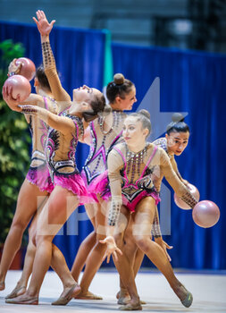 10/10/2020 - Italy group team B during the Serie A 2020 round 3° at the PalaBancoDesio, Desio, Italy on October 11, 2020 - Photo Fabrizio Carabelli - GINNASTICA RITMICA - CAMPIONATO NAZIONALE SERIE A - GINNASTICA - ALTRO