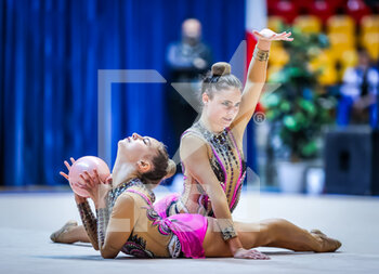 10/10/2020 - Corradini Nina of Italy Group and Torretti Talisa of Italy Group during the Serie A 2020 round 3° at the PalaBancoDesio, Desio, Italy on October 11, 2020 - Photo Fabrizio Carabelli - GINNASTICA RITMICA - CAMPIONATO NAZIONALE SERIE A - GINNASTICA - ALTRO