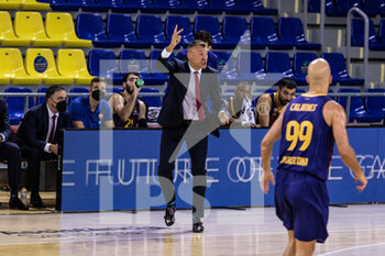 01/10/2020 - Sarunas Jasikevicius, Head coach of Fc Barcelona during the Turkish Airlines EuroLeague Basketball match between Fc Barcelona and CSKA Moscow on October 01, 2020 at Palau Blaugrana in Barcelona, Spain - Photo Javier Borrego / Spain DPPI / DPPI - FC BARCELONA VS CSKA MOSCOW - EUROLEAGUE - BASKET