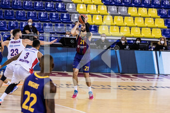 01/10/2020 - Alex Abrines of Fc Barcelona during the Turkish Airlines EuroLeague Basketball match between Fc Barcelona and CSKA Moscow on October 01, 2020 at Palau Blaugrana in Barcelona, Spain - Photo Javier Borrego / Spain DPPI / DPPI - FC BARCELONA VS CSKA MOSCOW - EUROLEAGUE - BASKET