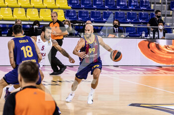 01/10/2020 - Nick Calathes of Fc Barcelona during the Turkish Airlines EuroLeague Basketball match between Fc Barcelona and CSKA Moscow on October 01, 2020 at Palau Blaugrana in Barcelona, Spain - Photo Javier Borrego / Spain DPPI / DPPI - FC BARCELONA VS CSKA MOSCOW - EUROLEAGUE - BASKET
