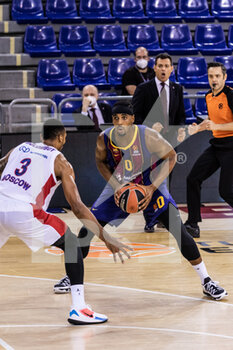 01/10/2020 - Brandon Davies of Fc Barcelona during the Turkish Airlines EuroLeague Basketball match between Fc Barcelona and CSKA Moscow on October 01, 2020 at Palau Blaugrana in Barcelona, Spain - Photo Javier Borrego / Spain DPPI / DPPI - FC BARCELONA VS CSKA MOSCOW - EUROLEAGUE - BASKET