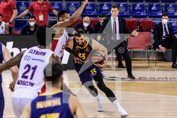 01/10/2020 - Nikola Mirotic of Fc Barcelona during the Turkish Airlines EuroLeague Basketball match between Fc Barcelona and CSKA Moscow on October 01, 2020 at Palau Blaugrana in Barcelona, Spain - Photo Javier Borrego / Spain DPPI / DPPI - FC BARCELONA VS CSKA MOSCOW - EUROLEAGUE - BASKET