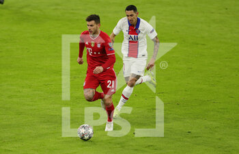 07/04/2021 - Lucas Hernandez of Bayern Munich and Angel Di Maria of Paris Saint-Germain during the UEFA Champions League, quarter final, 1st leg football match between Bayern Munich and Paris Saint-Germain on April 7, 2021 at Allianz Arena in Munich, Germany - Photo Marcel Engelbrecht / firo Sportphoto / DPPI - BAYERN MUNICH VS PARIS SAINT-GERMAIN - UEFA CHAMPIONS LEAGUE - CALCIO
