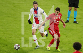 07/04/2021 - Julian Draxler of Paris Saint-Germain and Benjamin Pavard of Bayern Munich during the UEFA Champions League, quarter final, 1st leg football match between Bayern Munich and Paris Saint-Germain on April 7, 2021 at Allianz Arena in Munich, Germany - Photo Marcel Engelbrecht / firo Sportphoto / DPPI - BAYERN MUNICH VS PARIS SAINT-GERMAIN - UEFA CHAMPIONS LEAGUE - CALCIO