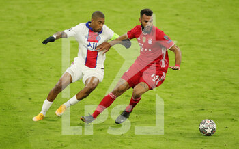 07/04/2021 - Eric Maxim Choupo-Moting of Bayern Munich and Presnel Kimpembe of Paris Saint-Germain during the UEFA Champions League, quarter final, 1st leg football match between Bayern Munich and Paris Saint-Germain on April 7, 2021 at Allianz Arena in Munich, Germany - Photo Marcel Engelbrecht / firo Sportphoto / DPPI - BAYERN MUNICH VS PARIS SAINT-GERMAIN - UEFA CHAMPIONS LEAGUE - CALCIO
