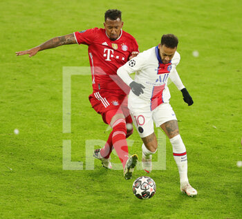 07/04/2021 - Neymar of Paris Saint-Germain and Jerome Boateng of Bayern Munich during the UEFA Champions League, quarter final, 1st leg football match between Bayern Munich and Paris Saint-Germain on April 7, 2021 at Allianz Arena in Munich, Germany - Photo Marcel Engelbrecht / firo Sportphoto / DPPI - BAYERN MUNICH VS PARIS SAINT-GERMAIN - UEFA CHAMPIONS LEAGUE - CALCIO