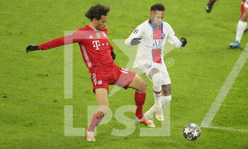 07/04/2021 - Leroy Sane of Bayern Munich and Neymar of Paris Saint-Germain during the UEFA Champions League, quarter final, 1st leg football match between Bayern Munich and Paris Saint-Germain on April 7, 2021 at Allianz Arena in Munich, Germany - Photo Marcel Engelbrecht / firo Sportphoto / DPPI - BAYERN MUNICH VS PARIS SAINT-GERMAIN - UEFA CHAMPIONS LEAGUE - CALCIO