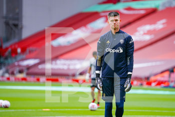 12/09/2020 - Leeds United goalkeeper Illan Meslier (1) warming up during the English championship Premier League football match between Liverpool and Leeds United on September 12, 2020 at Anfield in Liverpool, England - Photo Malcolm Bryce / ProSportsImages / DPPI - LIVERPOOL VS LEEDS UNITED - ENGLISH PREMIER LEAGUE - CALCIO