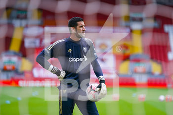 12/09/2020 - Leeds United goalkeeper Kiko Casilla (13) warming up during the English championship Premier League football match between Liverpool and Leeds United on September 12, 2020 at Anfield in Liverpool, England - Photo Malcolm Bryce / ProSportsImages / DPPI - LIVERPOOL VS LEEDS UNITED - ENGLISH PREMIER LEAGUE - CALCIO