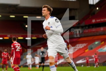 12/09/2020 - Leeds United forward Patrick Bamford (9) scores a goal to make the score 2-2 during the English championship Premier League football match between Liverpool and Leeds United on September 12, 2020 at Anfield in Liverpool, England - Photo Simon Davies / ProSportsImages / DPPI - LIVERPOOL VS LEEDS UNITED - ENGLISH PREMIER LEAGUE - CALCIO