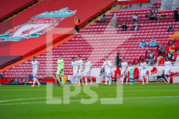 12/09/2020 - Leeds United enter the field during the English championship Premier League football match between Liverpool and Leeds United on September 12, 2020 at Anfield in Liverpool, England - Photo Malcolm Bryce / ProSportsImages / DPPI - LIVERPOOL VS LEEDS UNITED - ENGLISH PREMIER LEAGUE - CALCIO