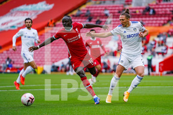 12/09/2020 - Leeds United defender Luke Ayling (2) tackles Liverpool forward Sadio Mane (10) during the English championship Premier League football match between Liverpool and Leeds United on September 12, 2020 at Anfield in Liverpool, England - Photo Malcolm Bryce / ProSportsImages / DPPI - LIVERPOOL VS LEEDS UNITED - ENGLISH PREMIER LEAGUE - CALCIO