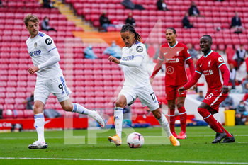 12/09/2020 - Leeds United forward Helder Costa (17) takes a shot during the English championship Premier League football match between Liverpool and Leeds United on September 12, 2020 at Anfield in Liverpool, England - Photo Malcolm Bryce / ProSportsImages / DPPI - LIVERPOOL VS LEEDS UNITED - ENGLISH PREMIER LEAGUE - CALCIO