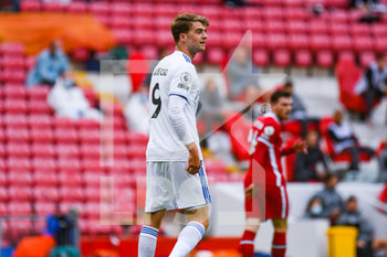 12/09/2020 - Leeds United forward Patrick Bamford (9) in action during the English championship Premier League football match between Liverpool and Leeds United on September 12, 2020 at Anfield in Liverpool, England - Photo Malcolm Bryce / ProSportsImages / DPPI - LIVERPOOL VS LEEDS UNITED - ENGLISH PREMIER LEAGUE - CALCIO