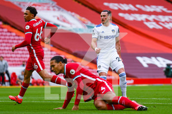 12/09/2020 - Leeds United forward Jack Harrison (22) scores a goal and celebrates to make the score 1-1 during the English championship Premier League football match between Liverpool and Leeds United on September 12, 2020 at Anfield in Liverpool, England - Photo Malcolm Bryce / ProSportsImages / DPPI - LIVERPOOL VS LEEDS UNITED - ENGLISH PREMIER LEAGUE - CALCIO