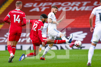 12/09/2020 - Leeds United midfielder Mateusz Klich (43) tackles Liverpool defender Joe Gomez (12) during the English championship Premier League football match between Liverpool and Leeds United on September 12, 2020 at Anfield in Liverpool, England - Photo Malcolm Bryce / ProSportsImages / DPPI - LIVERPOOL VS LEEDS UNITED - ENGLISH PREMIER LEAGUE - CALCIO