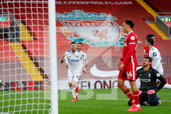 12/09/2020 - Leeds United midfielder Mateusz Klich (43) scores a goal and celebrates to make the score 3-3 during the English championship Premier League football match between Liverpool and Leeds United on September 12, 2020 at Anfield in Liverpool, England - Photo Simon Davies / ProSportsImages / DPPI - LIVERPOOL VS LEEDS UNITED - ENGLISH PREMIER LEAGUE - CALCIO
