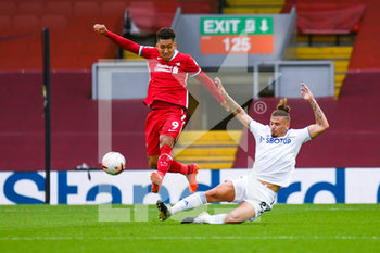 12/09/2020 - Leeds United midfielder Kalvin Phillips (23) tackles Liverpool forward Roberto Firmino (9) during the English championship Premier League football match between Liverpool and Leeds United on September 12, 2020 at Anfield in Liverpool, England - Photo Malcolm Bryce / ProSportsImages / DPPI - LIVERPOOL VS LEEDS UNITED - ENGLISH PREMIER LEAGUE - CALCIO
