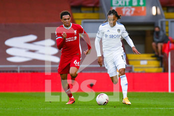 12/09/2020 - Leeds United forward Helder Costa (17) and Liverpool defender Trent Alexander-Arnold (66) in action during the English championship Premier League football match between Liverpool and Leeds United on September 12, 2020 at Anfield in Liverpool, England - Photo Malcolm Bryce / ProSportsImages / DPPI - LIVERPOOL VS LEEDS UNITED - ENGLISH PREMIER LEAGUE - CALCIO