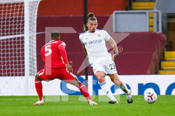 12/09/2020 - Leeds United midfielder Kalvin Phillips (23) passes the ball during the English championship Premier League football match between Liverpool and Leeds United on September 12, 2020 at Anfield in Liverpool, England - Photo Malcolm Bryce / ProSportsImages / DPPI - LIVERPOOL VS LEEDS UNITED - ENGLISH PREMIER LEAGUE - CALCIO