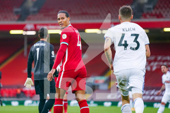 12/09/2020 - Liverpool defender Virgil van Dijk (4) reacts during the English championship Premier League football match between Liverpool and Leeds United on September 12, 2020 at Anfield in Liverpool, England - Photo Malcolm Bryce / ProSportsImages / DPPI - LIVERPOOL VS LEEDS UNITED - ENGLISH PREMIER LEAGUE - CALCIO