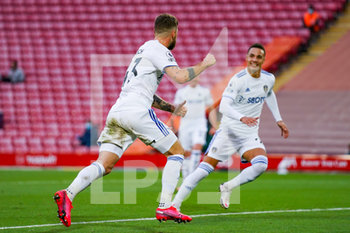 12/09/2020 - Leeds United midfielder Mateusz Klich (43) scores a goal and celebrates to make the score 3-3 during the English championship Premier League football match between Liverpool and Leeds United on September 12, 2020 at Anfield in Liverpool, England - Photo Malcolm Bryce / ProSportsImages / DPPI - LIVERPOOL VS LEEDS UNITED - ENGLISH PREMIER LEAGUE - CALCIO