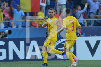 27/06/2019 - Romania´s George Puscas celebrates with Florin-Bogdan Stefan after scoring the goal on penalty for 1 - 1  - UEFA EUROPEAN UNDER-21 CHAMPIONSHIP 2019 - SEMIFINALS MATCH BETWEEN GERMANY AND ROMANIA - INTERNAZIONALI - CALCIO