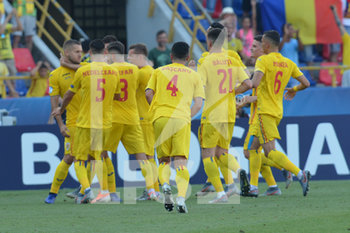 27/06/2019 - Romania players celebrating the goal of George Puscas on penalty for 1 - 1 against Germany - UEFA EUROPEAN UNDER-21 CHAMPIONSHIP 2019 - SEMIFINALS MATCH BETWEEN GERMANY AND ROMANIA - INTERNAZIONALI - CALCIO