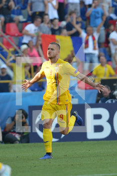 27/06/2019 - Romania´s George Puscas jubilates afters scoring header goal of 1 - 2  - UEFA EUROPEAN UNDER-21 CHAMPIONSHIP 2019 - SEMIFINALS MATCH BETWEEN GERMANY AND ROMANIA - INTERNAZIONALI - CALCIO