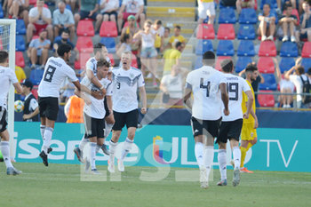 27/06/2019 - Germany´s Gian Luca Waldschmidt celebrates the penalty goal for 2 - 2  with teammates - UEFA EUROPEAN UNDER-21 CHAMPIONSHIP 2019 - SEMIFINALS MATCH BETWEEN GERMANY AND ROMANIA - INTERNAZIONALI - CALCIO