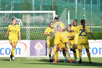 18/10/2020 - Hellas Verona Women players celebrate after the goal - ACF FIORENTINA FEMMINILE VS HELLAS VERONA WOMEN - SERIE A FEMMINILE - CALCIO