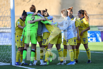18/10/2020 - Hellas Verona Women players celebrate the victory - ACF FIORENTINA FEMMINILE VS HELLAS VERONA WOMEN - SERIE A FEMMINILE - CALCIO