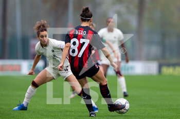 15/11/2020 - Veronica Boquete (AC Milan) in action during her debut with the Rossonere team - AC MILAN VS AS ROMA - SERIE A FEMMINILE - CALCIO