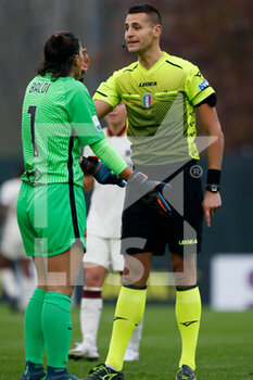 15/11/2020 - Rachele Baldi (AS Roma) protests with the referee for getting a red card - AC MILAN VS AS ROMA - SERIE A FEMMINILE - CALCIO