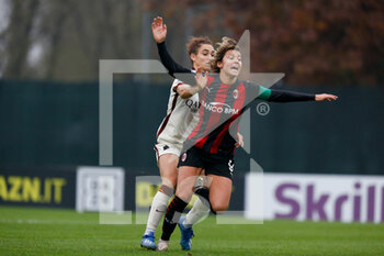 15/11/2020 - Valentina Giacinti (AC Milan) is fouled and a penalty is given to AC Milan - AC MILAN VS AS ROMA - SERIE A FEMMINILE - CALCIO
