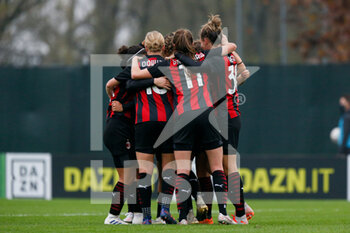 15/11/2020 - AC Milan players celebrate for the goal - AC MILAN VS AS ROMA - SERIE A FEMMINILE - CALCIO