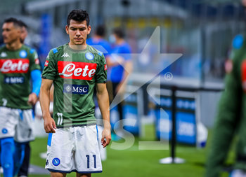 28/07/2020 - Hirving Lozano of SSC Napoli during the Serie A 2019/20 match between FC Internazionale vs SSC Napoli at the San Siro Stadium, Milan, Italy on July 28, 2020 - Photo Fabrizio Carabelli - INTER VS NAPOLI - SERIE A - CALCIO