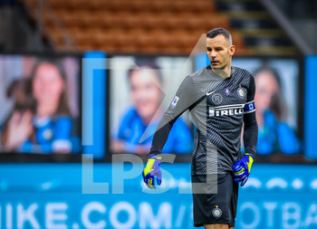 28/07/2020 - Samir Handanovic of FC Internazionale during the Serie A 2019/20 match between FC Internazionale vs SSC Napoli at the San Siro Stadium, Milan, Italy on July 28, 2020 - Photo Fabrizio Carabelli - INTER VS NAPOLI - SERIE A - CALCIO