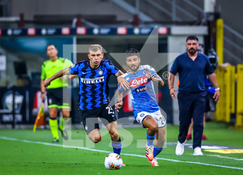 28/07/2020 - Lorenzo Insigne of SSC Napoli fights for the ball against Nicolo Barella of FC Internazionale during the Serie A 2019/20 match between FC Internazionale vs SSC Napoli at the San Siro Stadium, Milan, Italy on July 28, 2020 - Photo Fabrizio Carabelli - INTER VS NAPOLI - SERIE A - CALCIO