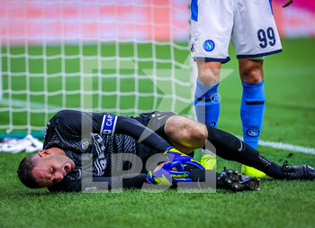 28/07/2020 - Samir Handanovic of FC Internazionale injured during the match during the Serie A 2019/20 match between FC Internazionale vs SSC Napoli at the San Siro Stadium, Milan, Italy on July 28, 2020 - Photo Fabrizio Carabelli - INTER VS NAPOLI - SERIE A - CALCIO