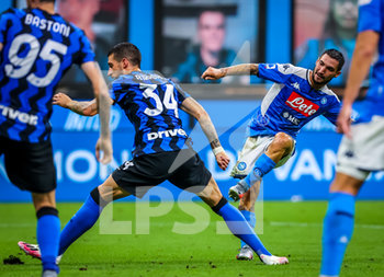 28/07/2020 - Matteo Politano of SSC Napoliduring the Serie A 2019/20 match between FC Internazionale vs SSC Napoli at the San Siro Stadium, Milan, Italy on July 28, 2020 - Photo Fabrizio Carabelli - INTER VS NAPOLI - SERIE A - CALCIO