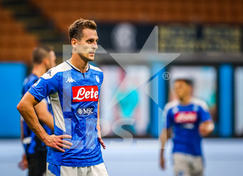 28/07/2020 - Arkadiusz Milik of SSC Napoli during the Serie A 2019/20 match between FC Internazionale vs SSC Napoli at the San Siro Stadium, Milan, Italy on July 28, 2020 - Photo Fabrizio Carabelli - INTER VS NAPOLI - SERIE A - CALCIO