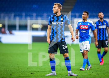 28/07/2020 - Christian Eriksen of FC Internazionale during the Serie A 2019/20 match between FC Internazionale vs SSC Napoli at the San Siro Stadium, Milan, Italy on July 28, 2020 - Photo Fabrizio Carabelli - INTER VS NAPOLI - SERIE A - CALCIO