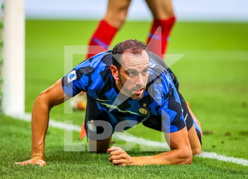 28/07/2020 - Diego Godin of FC Internazionale during the Serie A 2019/20 match between FC Internazionale vs SSC Napoli at the San Siro Stadium, Milan, Italy on July 28, 2020 - Photo Fabrizio Carabelli - INTER VS NAPOLI - SERIE A - CALCIO