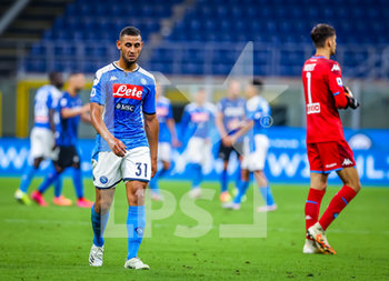 28/07/2020 - Faouzi Ghoulam of SSC Napoli during the Serie A 2019/20 match between FC Internazionale vs SSC Napoli at the San Siro Stadium, Milan, Italy on July 28, 2020 - Photo Fabrizio Carabelli - INTER VS NAPOLI - SERIE A - CALCIO