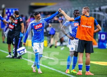 28/07/2020 - Jose Callejon of SSC Napoli and Milan Skriniar of FC Internazionale during the Serie A 2019/20 match between FC Internazionale vs SSC Napoli at the San Siro Stadium, Milan, Italy on July 28, 2020 - Photo Fabrizio Carabelli - INTER VS NAPOLI - SERIE A - CALCIO